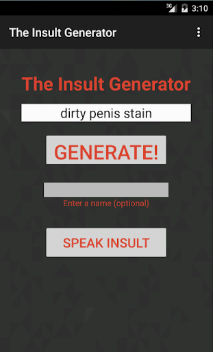 The insult Generator