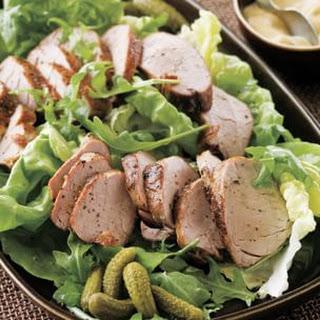 Roasted Pork Tenderloin and Cornichon Salad