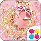 Cute Theme Golden Lace Heart icon