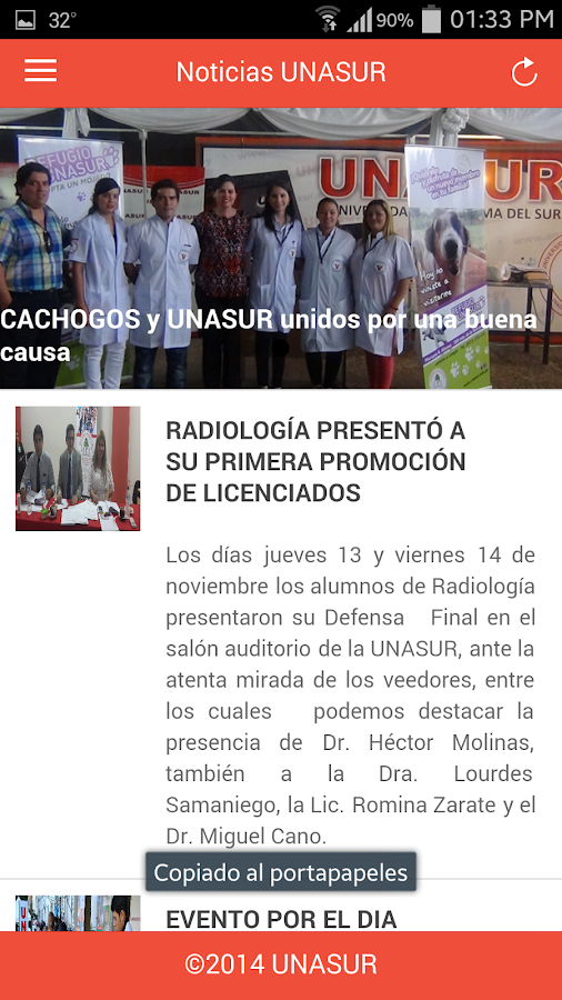 UNASUR- screenshot