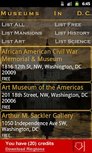 Museums In Washington DC- screenshot thumbnail