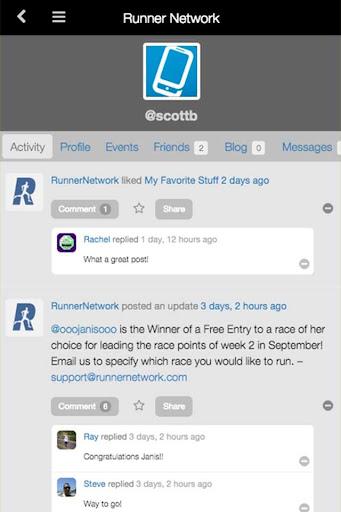 Runner Network - Running App