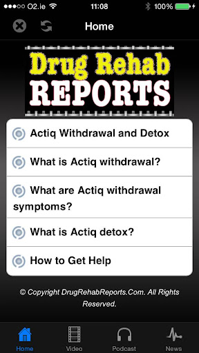 Actiq Withdrawal Detox