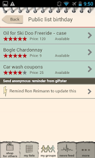 Giftster - Wish List Registry - screenshot thumbnail