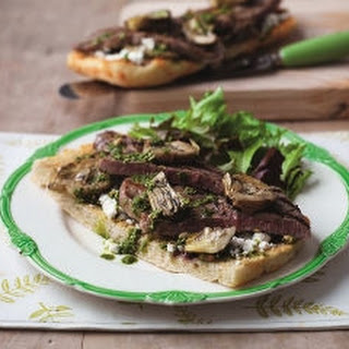 Beef, Artichoke And Feta Bruschetta