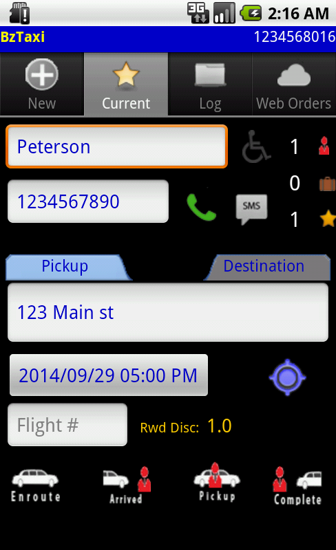 Taxi/Limo Dispatch/Order  Mgmt- screenshot