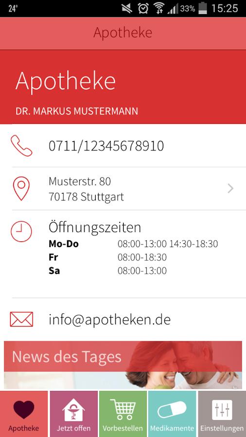 ApothekenApp- screenshot