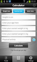 Screenshot of Diet & Calories Tracker