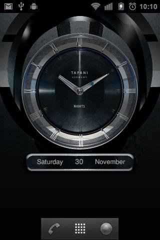 NIGHTS Designer Clock Widget - screenshot