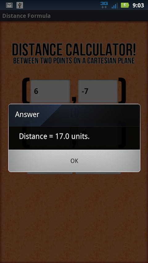 Distance Formula - screenshot