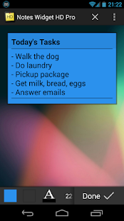Notes Widget HD PRO - Stickies - screenshot thumbnail