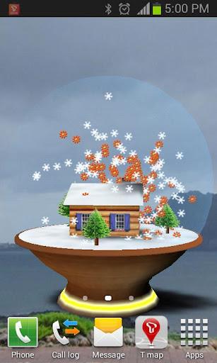 Snow globe Live wallpaper 3D