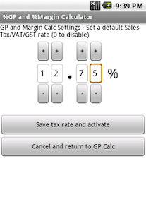 Free %Gross Profit Margin Calc - screenshot thumbnail