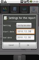Screenshot of PGM-Invoice Tax Report
