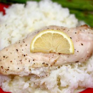 Creamy Lemon Chicken and Rice.
