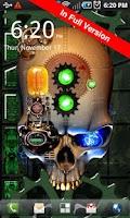 Screenshot of Steampunk Skull Free Wallpaper