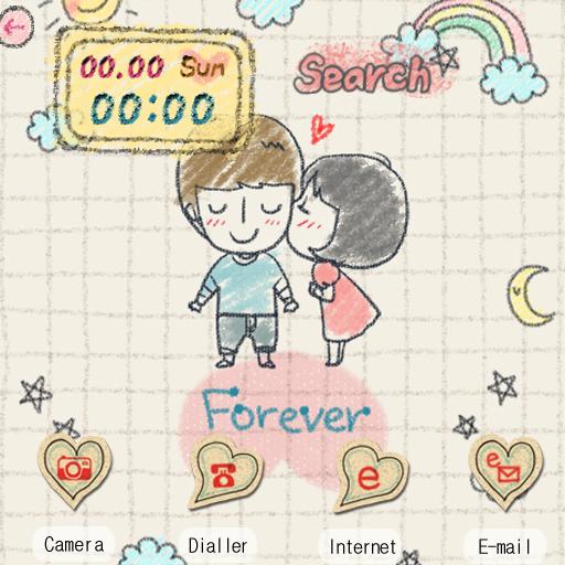 CUKI Theme Forever Love LOGO-APP點子