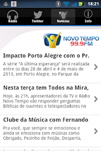 Rádio Novo Tempo 99.9 FM - screenshot thumbnail