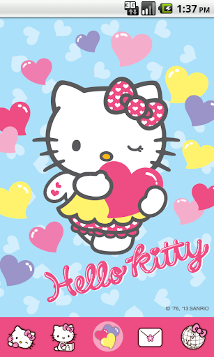 Hello Kitty Color Heart Theme