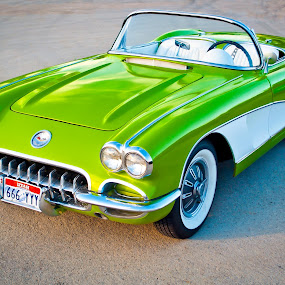 Life Size Toy by Boyd Smith - Transportation Automobiles ( two tone corvette, classic car, corvette, white wall tires, chevy )