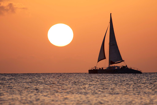 Cayman-Islands-catamaran-sunset - Another picture-perfect sunset in the Cayman Islands.