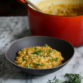 Vegan Pumpkin Risotto with Rosemary