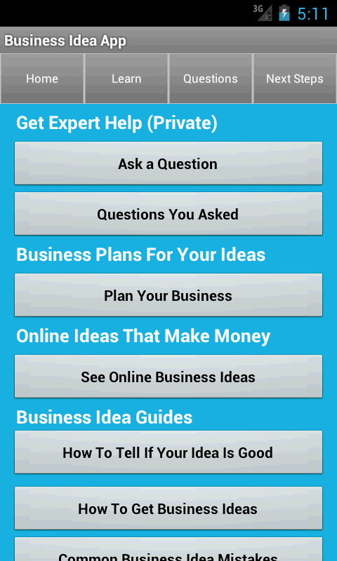 Startup & Business Ideas - screenshot