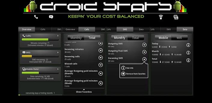 Скачать DroidStats - статистика вашего телефона