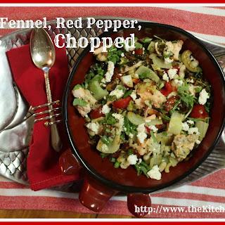 Salmon, Fennel, Red Pepper, Quinoa Chopped