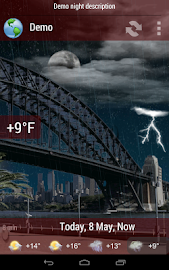 Animated Weather Widget&Clock Screenshot 6