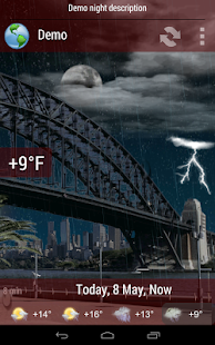 Animated Weather Widget&Clock - screenshot thumbnail