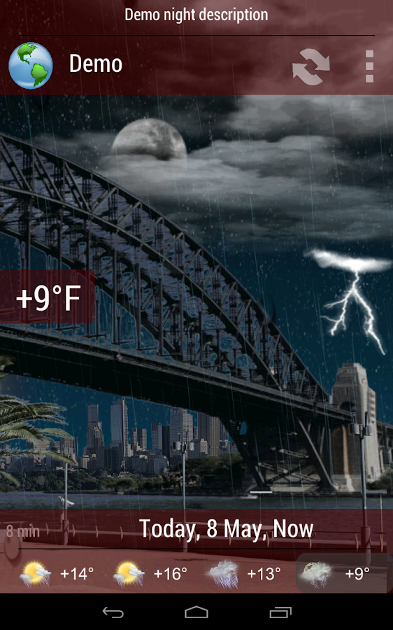 Animated Weather Widget&Clock - screenshot