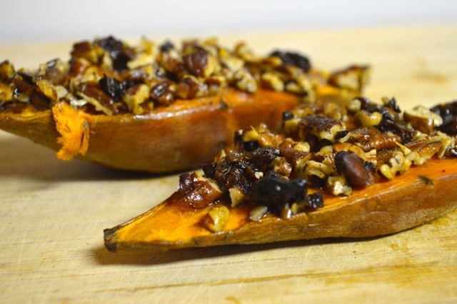 Roasted Sweet Potato Boats