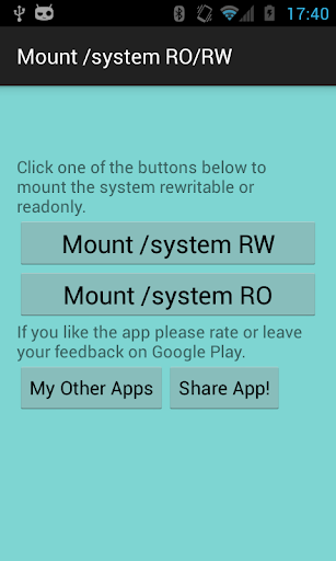 Mount system RO RW [ROOT]