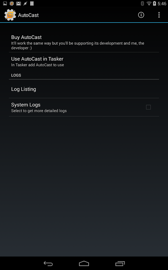 AutoCast Unlock Key- screenshot