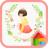 Pure girl dodol launcher theme
