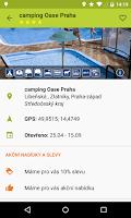 Screenshot of Czech campsites