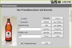 Screenshot of MohrenbräuApp