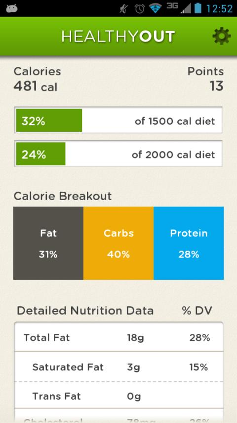 HealthyOut Healthy Meal Finder- screenshot
