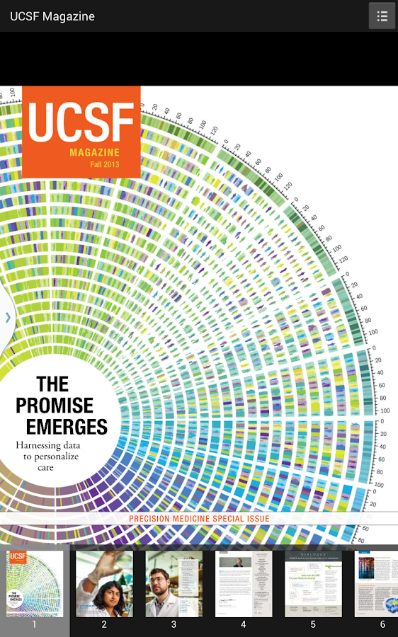 UCSF Magazine - screenshot