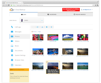 G Cloud Backup Screenshot 7