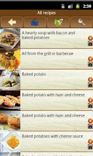 Potato recipes - screenshot thumbnail