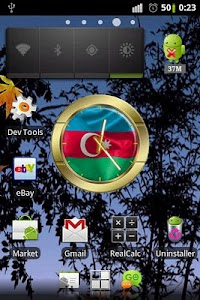 Azerbaijan flag clocks screenshot 1