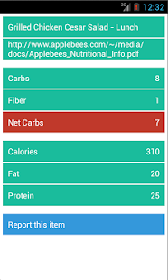 KetoFinder - Low Carb Menus- screenshot thumbnail