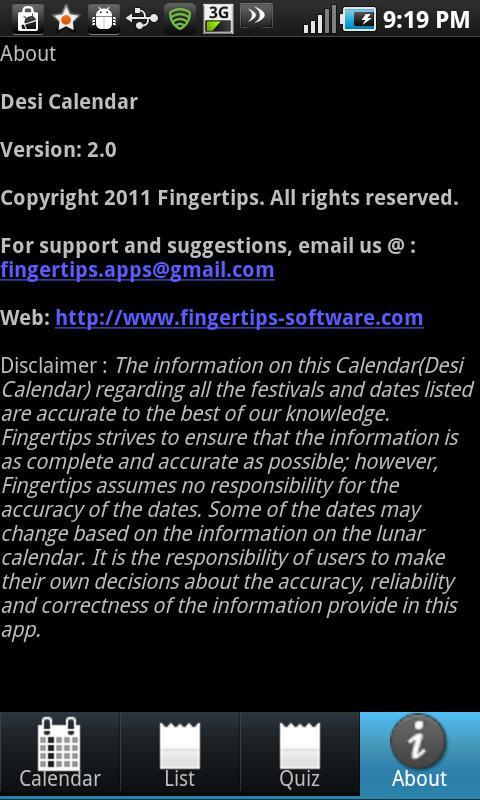 Desi Calendar- screenshot