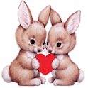 Bunnies in Love Live Wallpaper logo