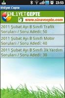 Screenshot of EHLİYET Cepte