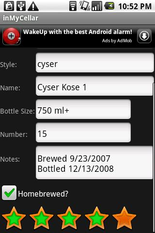 InMyCellar- screenshot