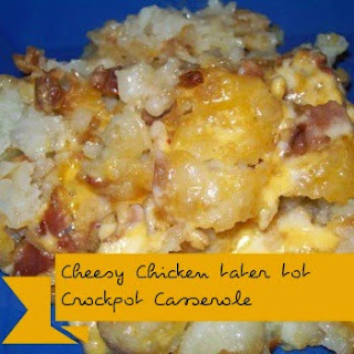 Cheesy Chicken-Bacon-Tot Slow Cooker Bake