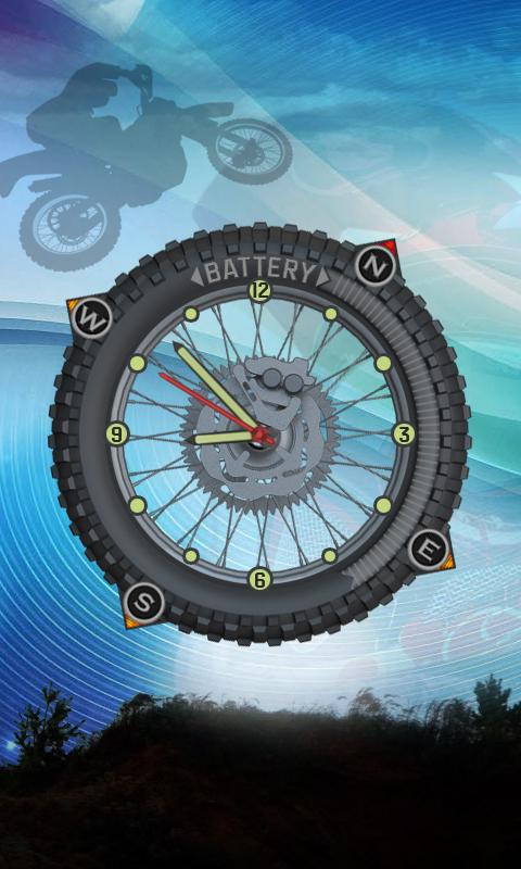 Neon Motocross Compass Widget - screenshot